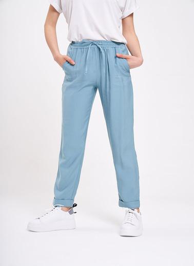 Mizalle Bağcıklı Duble Paça Pantolon Yeşil
